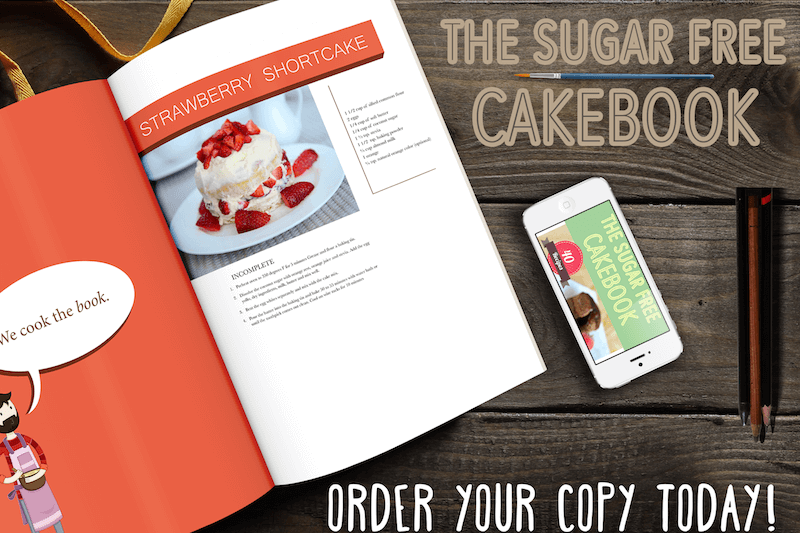 The sugar free cakebook advertisement