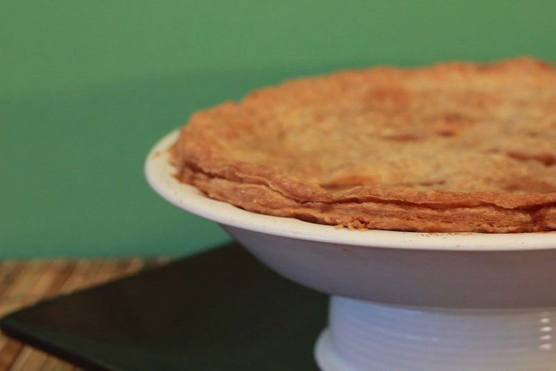 the finished sugar free apple pie recipe