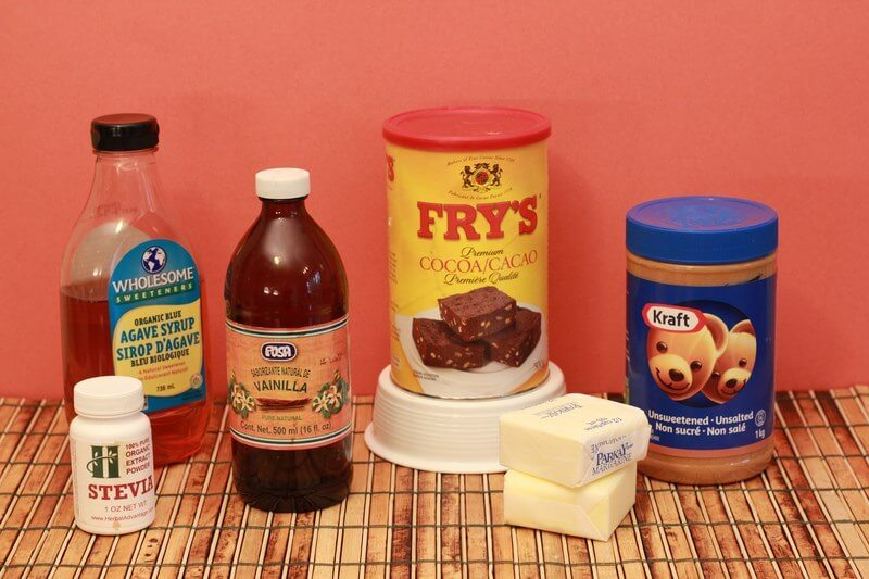 the ingredients for some sugar free peanut butter fudge