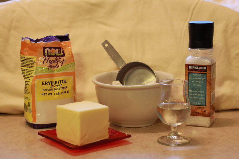 ingredients for the sugar free pie pastry