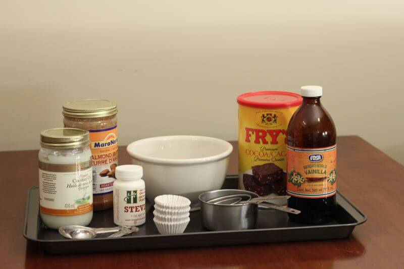 all the ingredients for the sugar free recipe