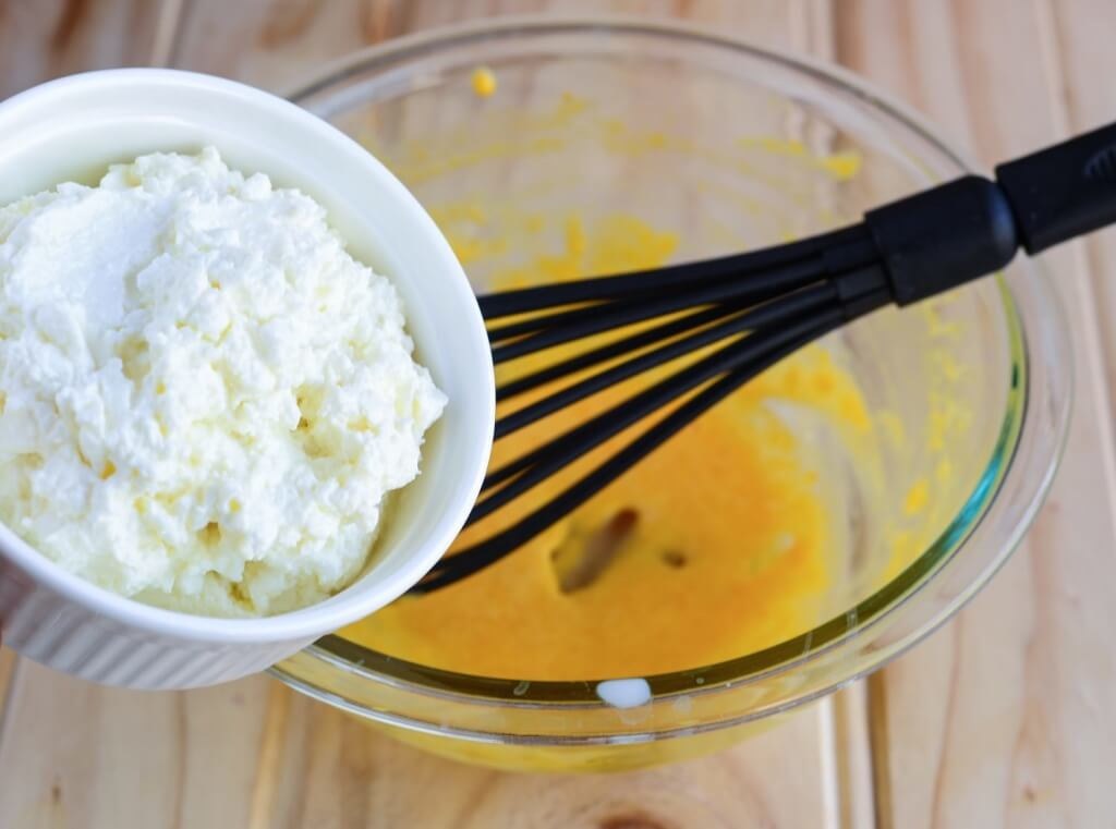 Add cottage cheese to the mix